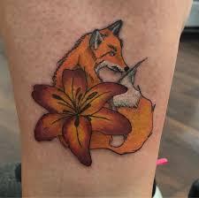 нина Tattoo Artist в Instagram лисичка 25 часа тату