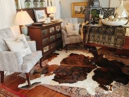 best metallic cowhide rug