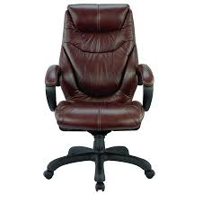 O Genuine Leather High Back Executive Chair Chocolate Brown Real