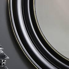 large round black wall mirror 86cm x 86cm