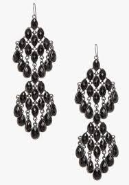 bebe faceted stone chandelier earrings in black lyst