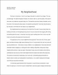 examples of a descriptive essay about a place descriptive writing  essay about my neighborhood descriptive essay example carpinteria rural friedrich examples of a descriptive essay