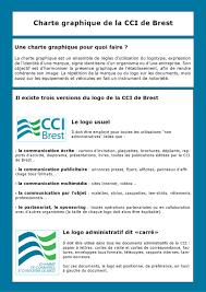 Charte Graphique Cci De Brest By Hall Christelle Issuu