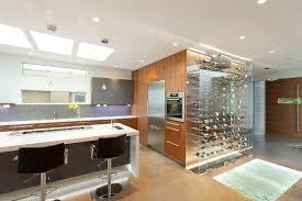 artistic wine decor idea interior designs kitchen contemporary with led lighting downdraft vent