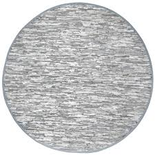 matador off white leather 8 ft x 8 ft round area rug