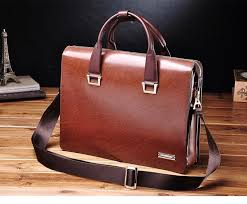 pilaeo attractive genuine mens leather business brown bag 67mnta