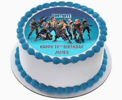 Fortnite Edible Wafer Circle 75 Cake Topper Birthday Image