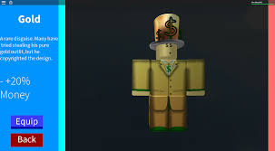 How To Create An Outfit On Roblox Disguise Gold Roblox In Plain Sight Wikia Fandom