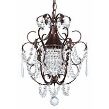 bronze and crystal chandelier. Crystal Mini-Chandelier Pendant Light In Bronze Finish - Ceiling Fixtures Amazon.com And Chandelier T