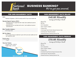 In most cases you will be required to change it to a number you designate. Business Services First National Bank Of Waterloo