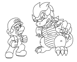 Mario Vs Bowser Coloring Page Chalkboard Mario Coloring Pages