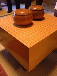 wooden go bowls on a anese style floor board