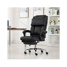 desk chair footrest. Fine Desk Reclining Leather Ergonomic High Back Executive Office Chair Footrest  Armchair USA Stock With Desk A