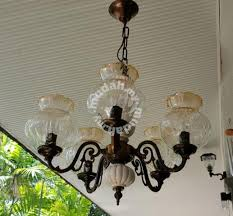 antique chandelier glass shades hanging lights