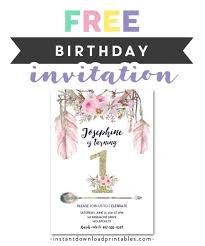First Birthday Invitations Free Printable Free Printable Editable Pdf Birthday Party Invitation Diy