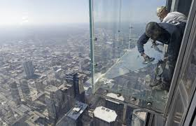See Through Glass Willis Tower Observation Deck Cracks Timecom