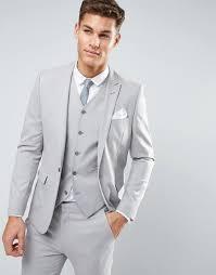 Mens Light Grey Wedding Suits Skinny Suit Jacket In Ice Gray Light Grey Suits Wedding