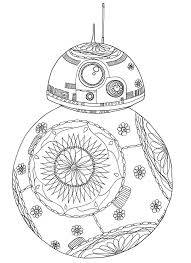Star Wars Bb8 Robot Movies Adult Coloring Pages