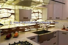 modern design backlit onyx kitchen countertops