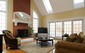 modern living room with brick fireplace. Red Brick Wall For Living Room Fireplace Interior Design Pertaining To Modern With