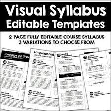 Editable Visual Syllabus Templates Pack Azsunset