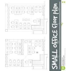 floor plan office furniture symbols. Download Standard Office Furniture Symbols On Floor Plans Stock Vector - Illustration Of Cabinet, Basic Plan M