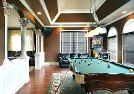 rug under pool table pool rug angled ceiling family room traditional with pool table lighting rectangular