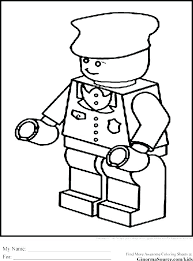 Police Officer Coloring Pages Printable Female Police Officer