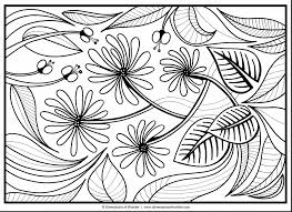 Coloring Impressive Abstract Flower Coloring Pages