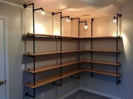 basement storage solutions. Pipe Wall Basement Shelving And Storage Solutions