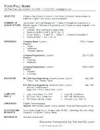 Resume Template For Word 2010 Gorgeous Resume Template On Microsoft Word 48 How To Use Word Resume