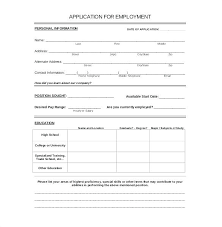 Free Downloadable Employment Application Forms Employment Application California Template
