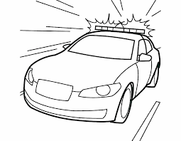 Police Car Coloring Pages For Preschoolers Police Car Coloring Page