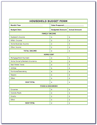Household Budget Form Household Budget Forms To Print Form Resume Examples Qxpbrdgpa7
