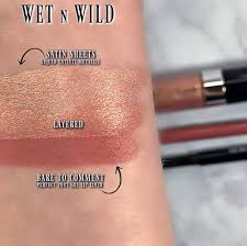 wet n wild satin sheets liquid catsuit metallic gel lip liner swatches review photos swatch pics