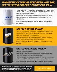 Wix Filters Products Information