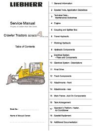 Dozer Size Chart Liebherr Pr734 Crawler Dozer Service Repair Manual