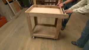 Once I stumbled upon a video on the website for 'This Old House' which  showed how to make a simple Utility Cart. You can see their video by  clicking here.