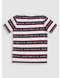 Jack And Jones Shirt Size Chart Buy Men Junior White Striped Crew Neck T Shirt Online Jack