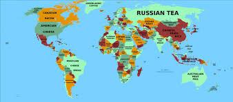 world food map  visually