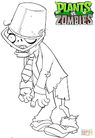 Small Picture Click the Plants vs Zombies Buckethead Zombie coloring pages to