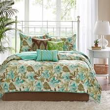 madison park martinique teal brown tropical bedding by madison park bedding