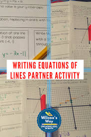 writing and graphing equations of lines partner activities
