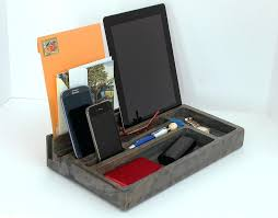wood charging station organizer wood phone docking station custom