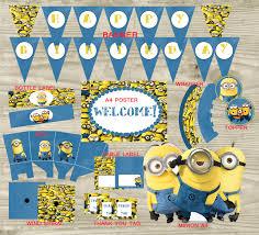 Minions Party Minions Party Decoration Party Kit Minions Minion Printables