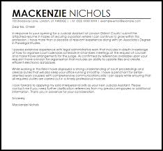 Judicial Assistant Cover Letter Sample Cover Letter Templates