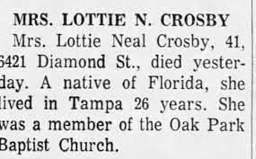 Lottie Crosby obit - Newspapers.com