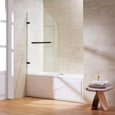 Glass Doors For Bathtub Vigo Orion 34 In X 58 In Pivot Clear Curved Tub Door In Chrome