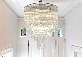 extra large chandeliers chandelier high ceiling modern crystal