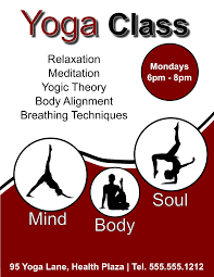 Yoga Class Flyer Yoga Class Flyer Template For Inkscape Free